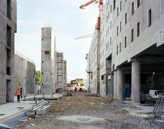 Le chantier des Archives nationales, Pierrefitte-sur-Seine, 16 juillet 2010