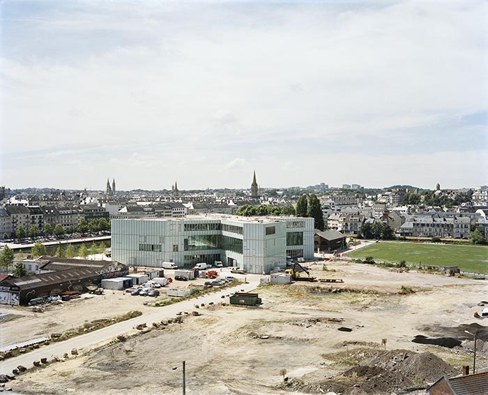 La médiathèque Alexis-de-Toqueville en travaux, Caen, 2016