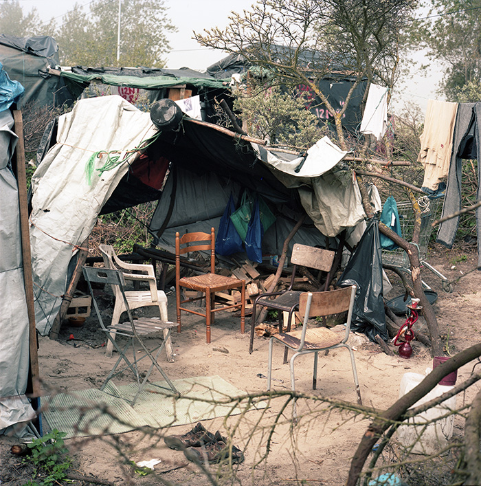 May 9, 2016 - Living Room and Kitchen of a Sudanese Housing Group, North Zone, Jungle of Calais